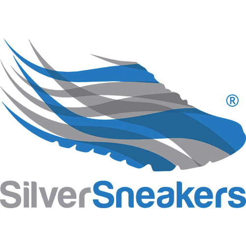 "A Logo of Shoes with the Text ""Silver Sneakers"""