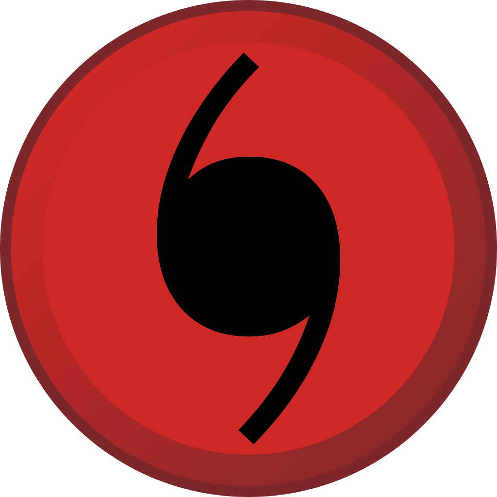 Red and Black Hurricane Symbol